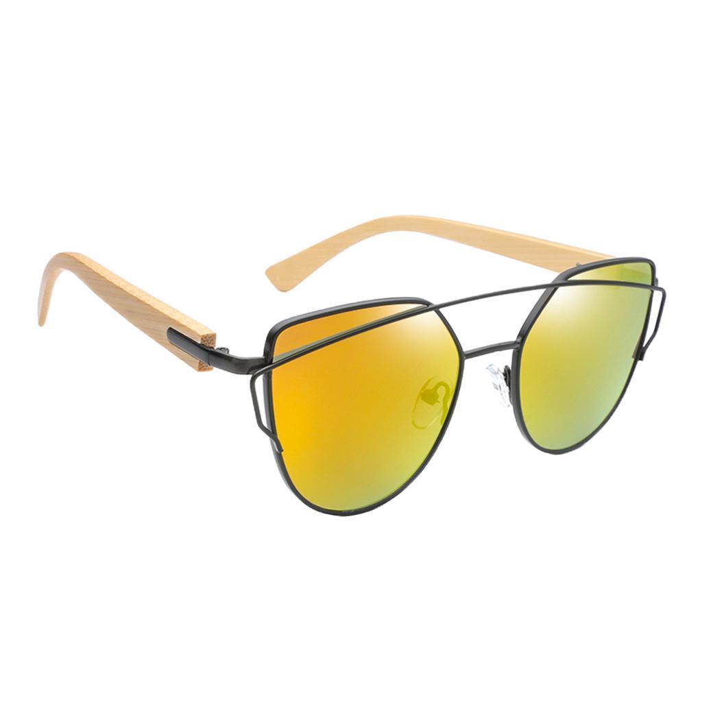 uomo-donna-moda-in-legno-uv-400-lenti-piatte-occhiali-da-sole-con-gambe-di miniatura 5