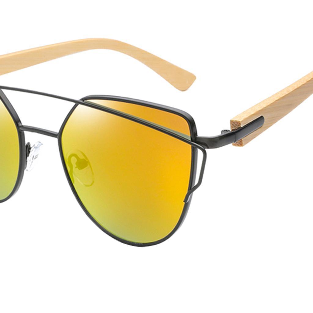 uomo-donna-moda-in-legno-uv-400-lenti-piatte-occhiali-da-sole-con-gambe-di miniatura 4