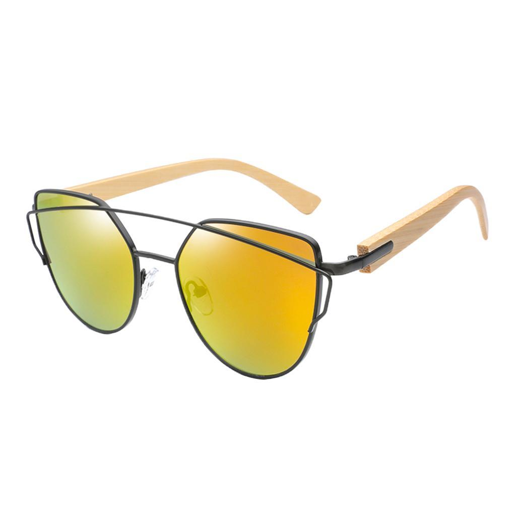 uomo-donna-moda-in-legno-uv-400-lenti-piatte-occhiali-da-sole-con-gambe-di miniatura 3