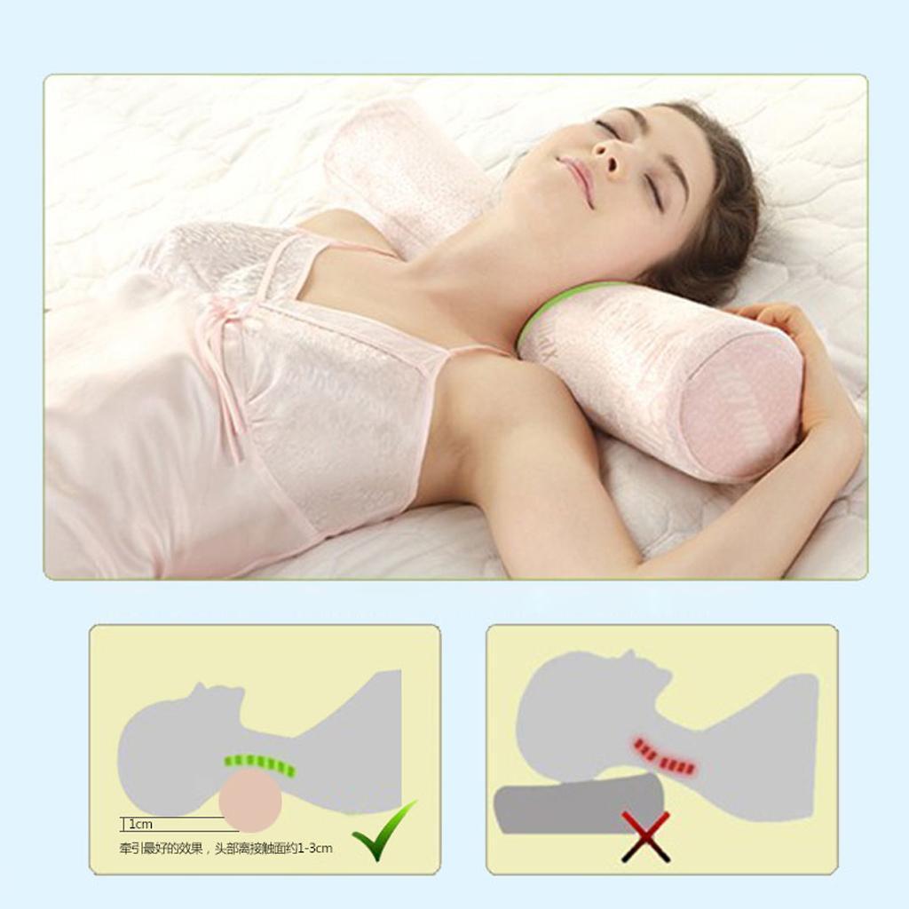 Slow Memory Foam Sleeping Neck Roll Pillow Cervical