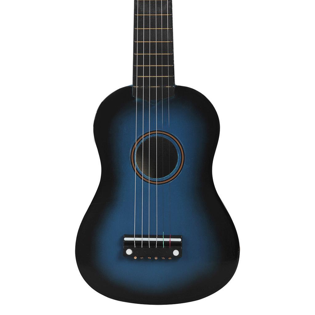 Legno-massello-lucido-21-pollici-6-String-chitarra-MINI-CHITARRA-ACUSTICA-giocattoli-Set miniatura 19