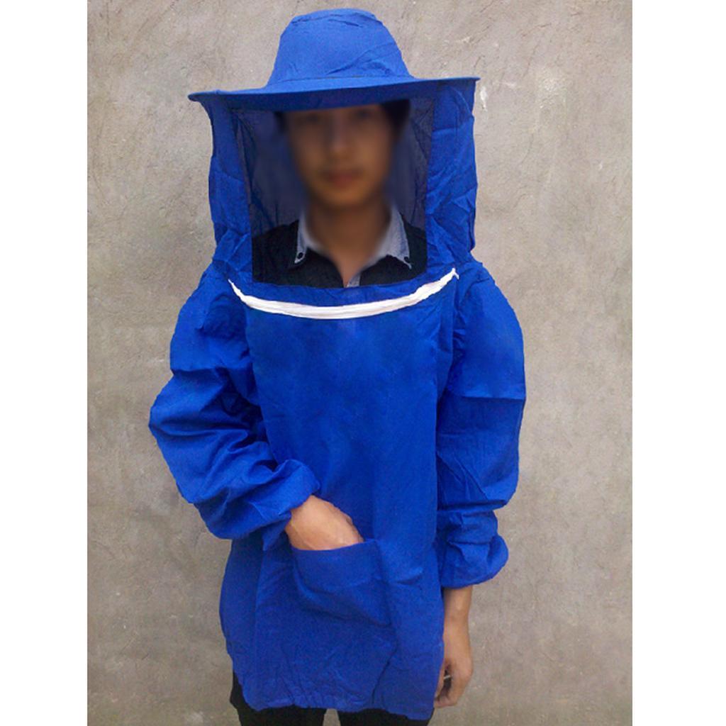 Giacca-Con-Cappello-e-Maschera-Rete-Protezione-Ape-Per-Apicoltura miniatura 17