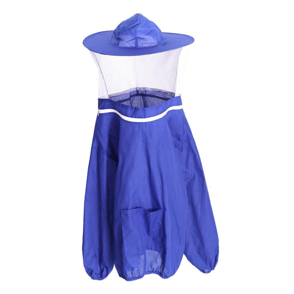Giacca-Con-Cappello-e-Maschera-Rete-Protezione-Ape-Per-Apicoltura miniatura 11