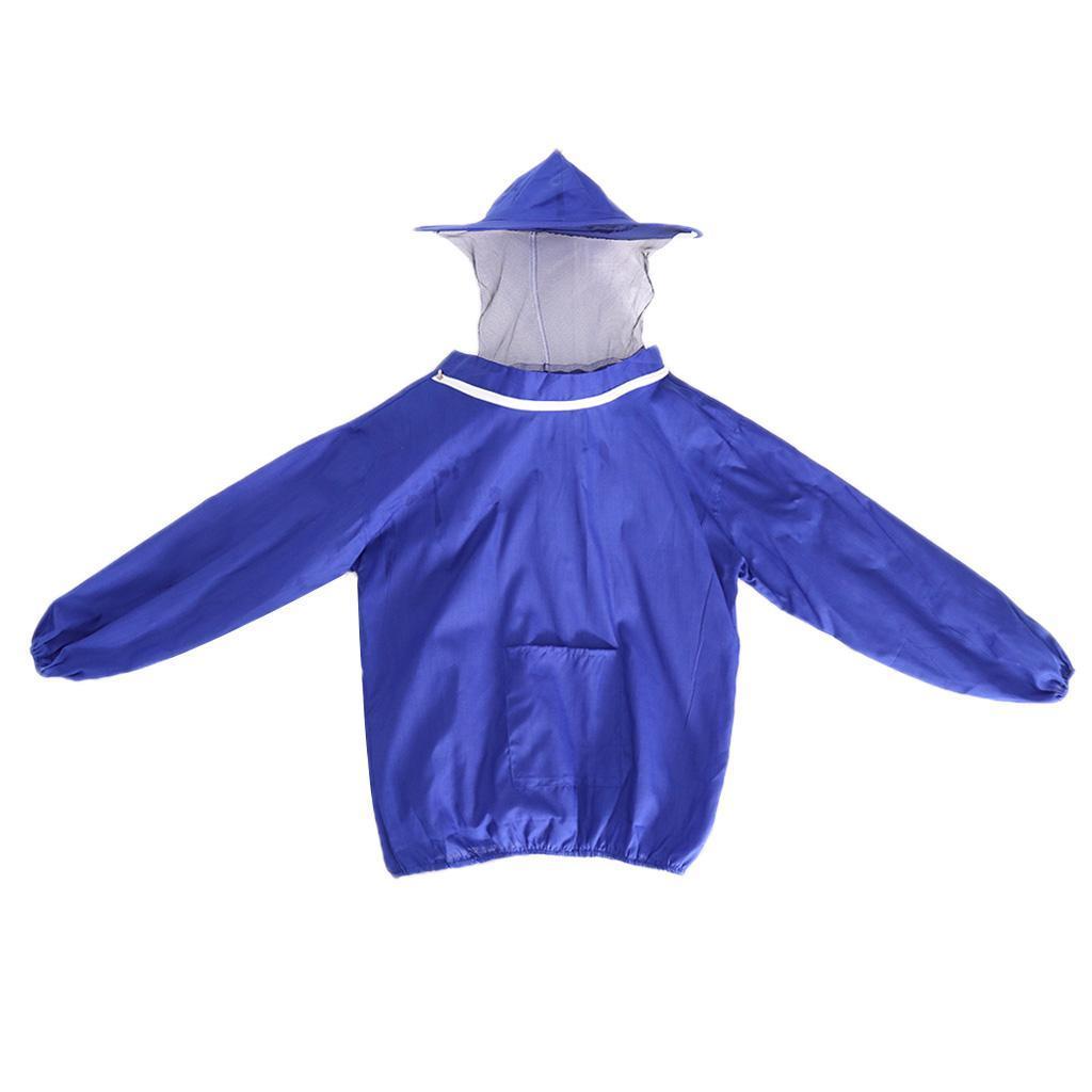 Giacca-Con-Cappello-e-Maschera-Rete-Protezione-Ape-Per-Apicoltura miniatura 10