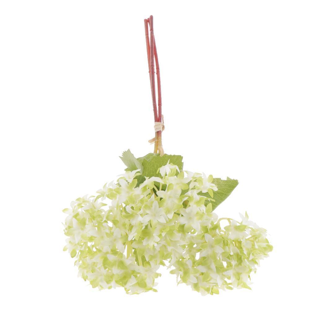 Mini-Bouquet-Artificiel-Faux-Soie-Hortensia-Fleurs-Mariage-Anniversaire miniature 11