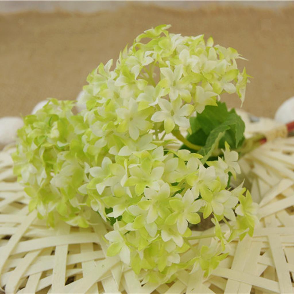 Mini-Bouquet-Artificiel-Faux-Soie-Hortensia-Fleurs-Mariage-Anniversaire miniature 12