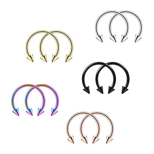 10Pcs-Helix-316L-Stainless-Steel-Spikes-Nose-Lip-Ear-Hoop-Ring-Horseshoe-Style thumbnail 4