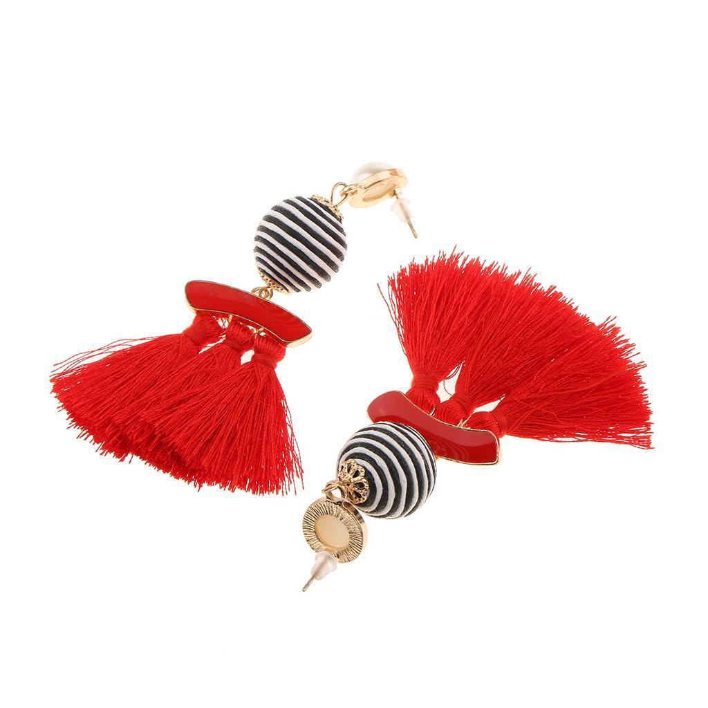 miniatura 4 - Paio Orecchini Pendenti Con Perline Per Matrimonio Festa Ballo Di Fine Anno