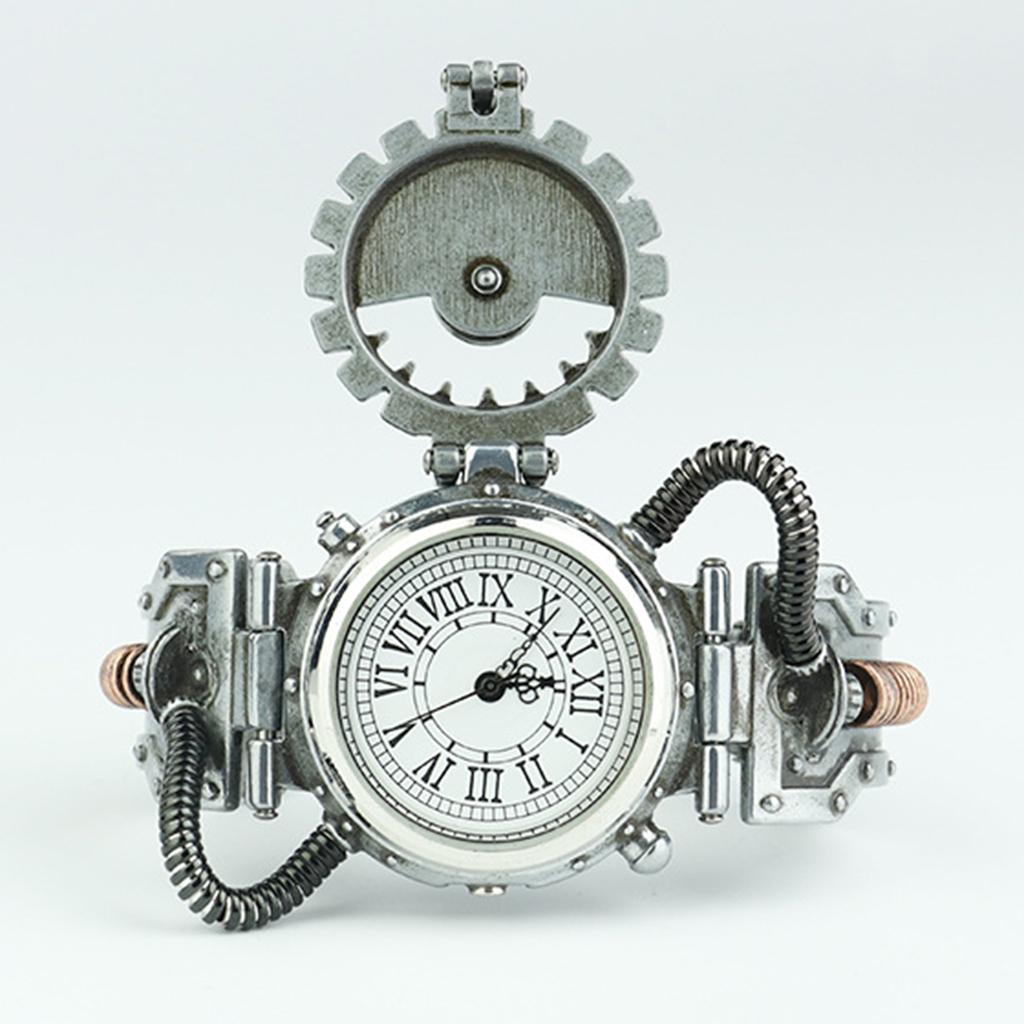 Orologio-Tascabile-da-Uomo-Stile-Steampunk-Gotico-Movimento-a-Quarzo miniatura 3