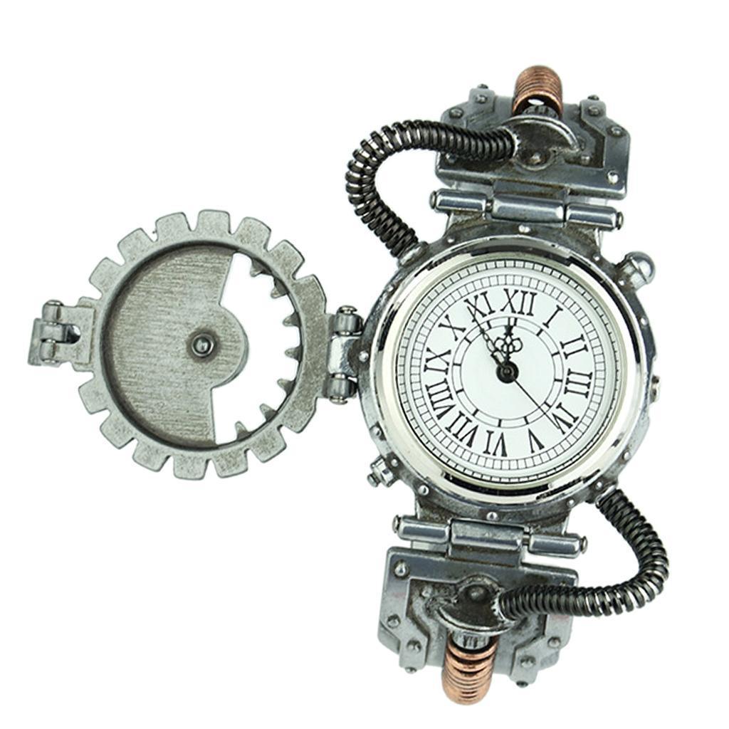 Orologio-Tascabile-da-Uomo-Stile-Steampunk-Gotico-Movimento-a-Quarzo miniatura 4