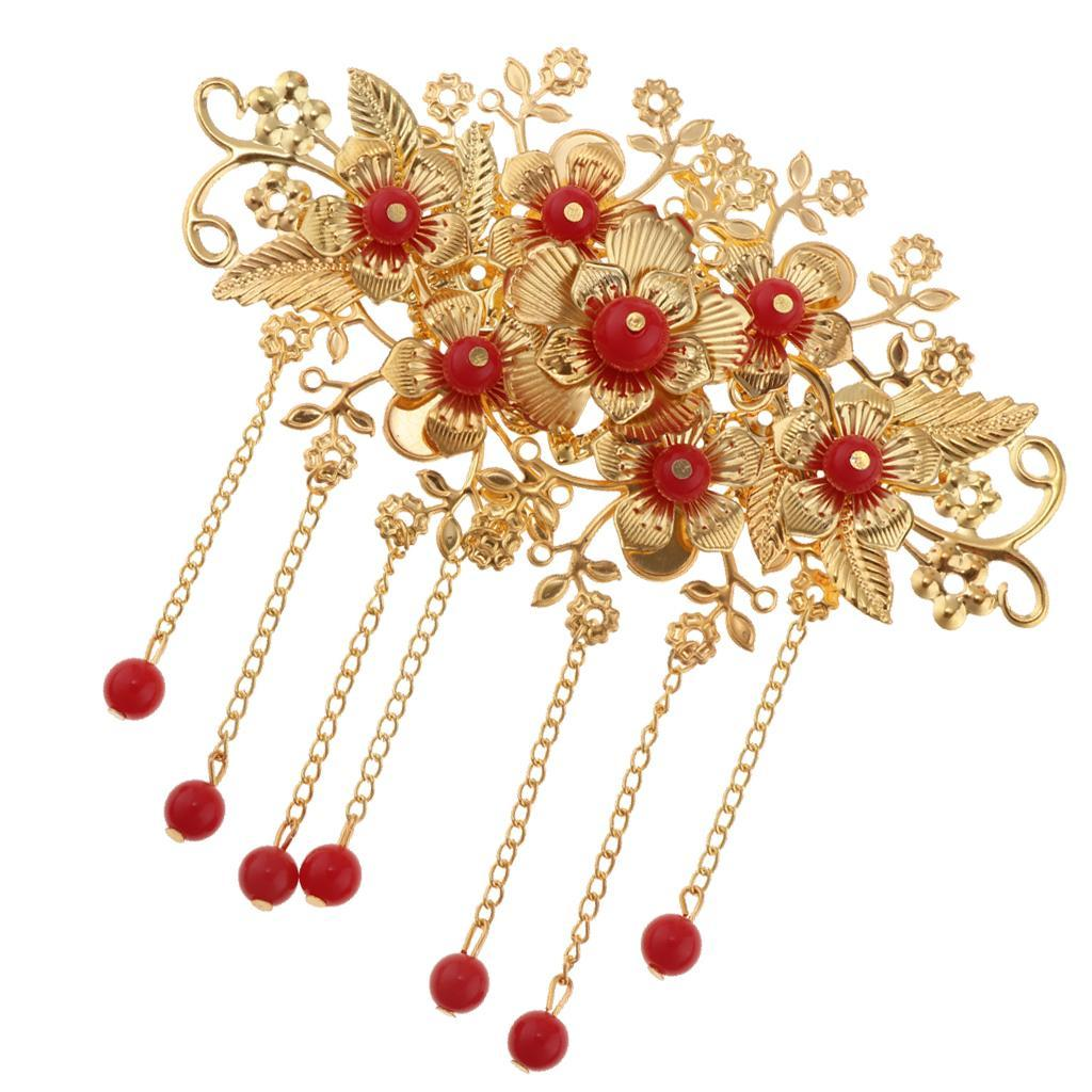 Wedding Gift China: Ancient Chinese Tassel Hair Comb Pin Earrings Set Costume