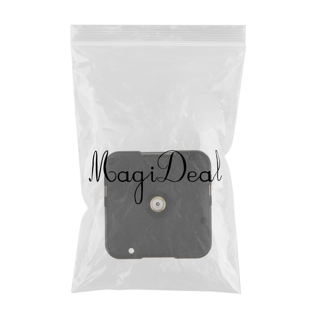 Black Plastic 14.5mm Shaft Quartz Clock Movement Replace DIY Clock Part Mechanism Tool for Watchmaker