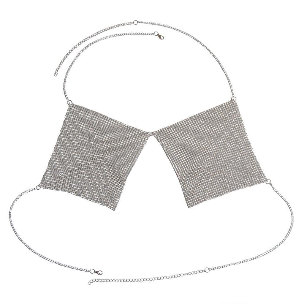 Metallkörperkette Frauen Brust Kette Körper Kette Bikini Kette