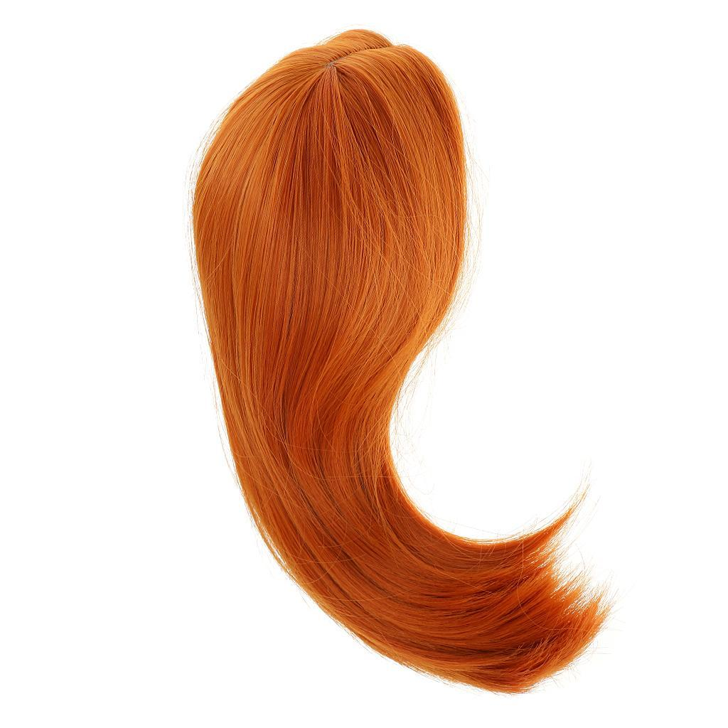 Straight-Gradient-Curly-Hair-Wig-for-18-039-039-Doll-Dress-up-Accessory thumbnail 77