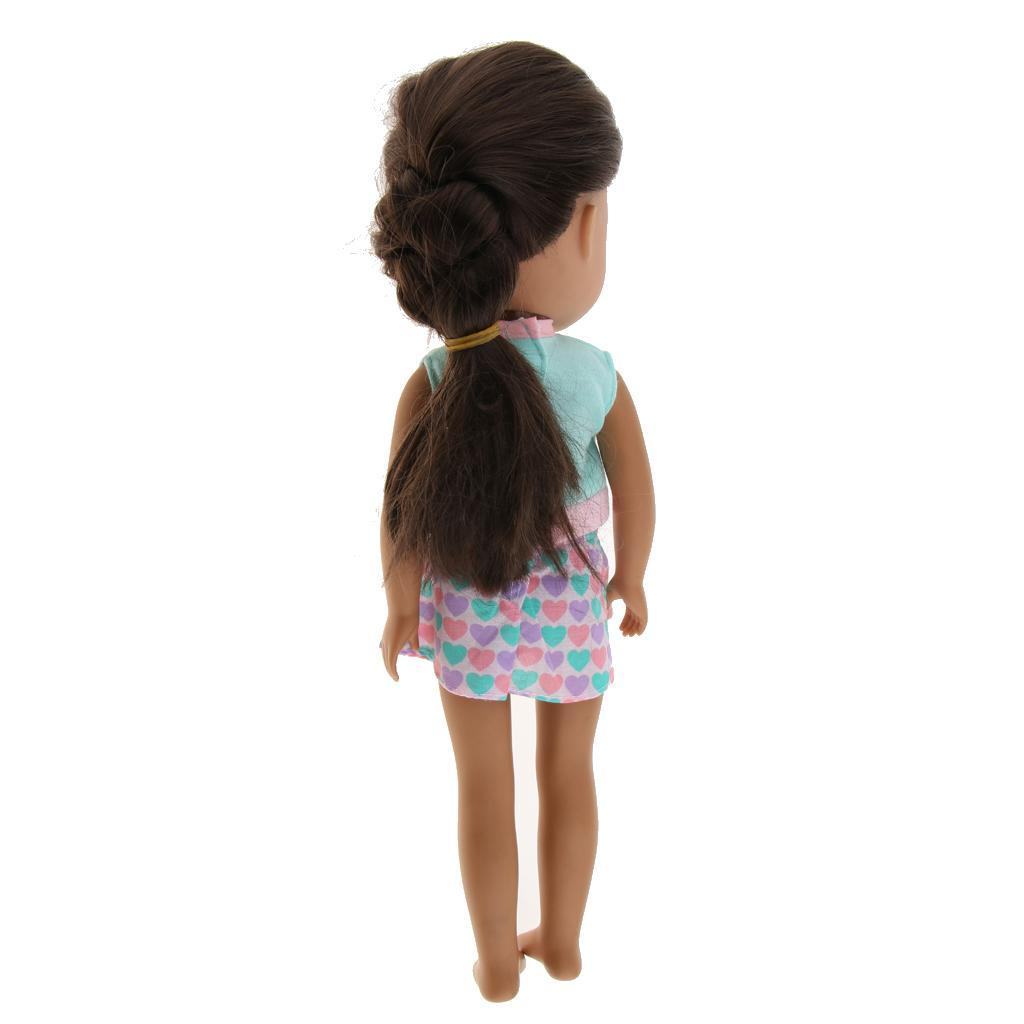 For-14-inch-Wellie-Wishers-American-Doll-Dolls-Clothing-T-shirt-Miniskirt-Romper thumbnail 10