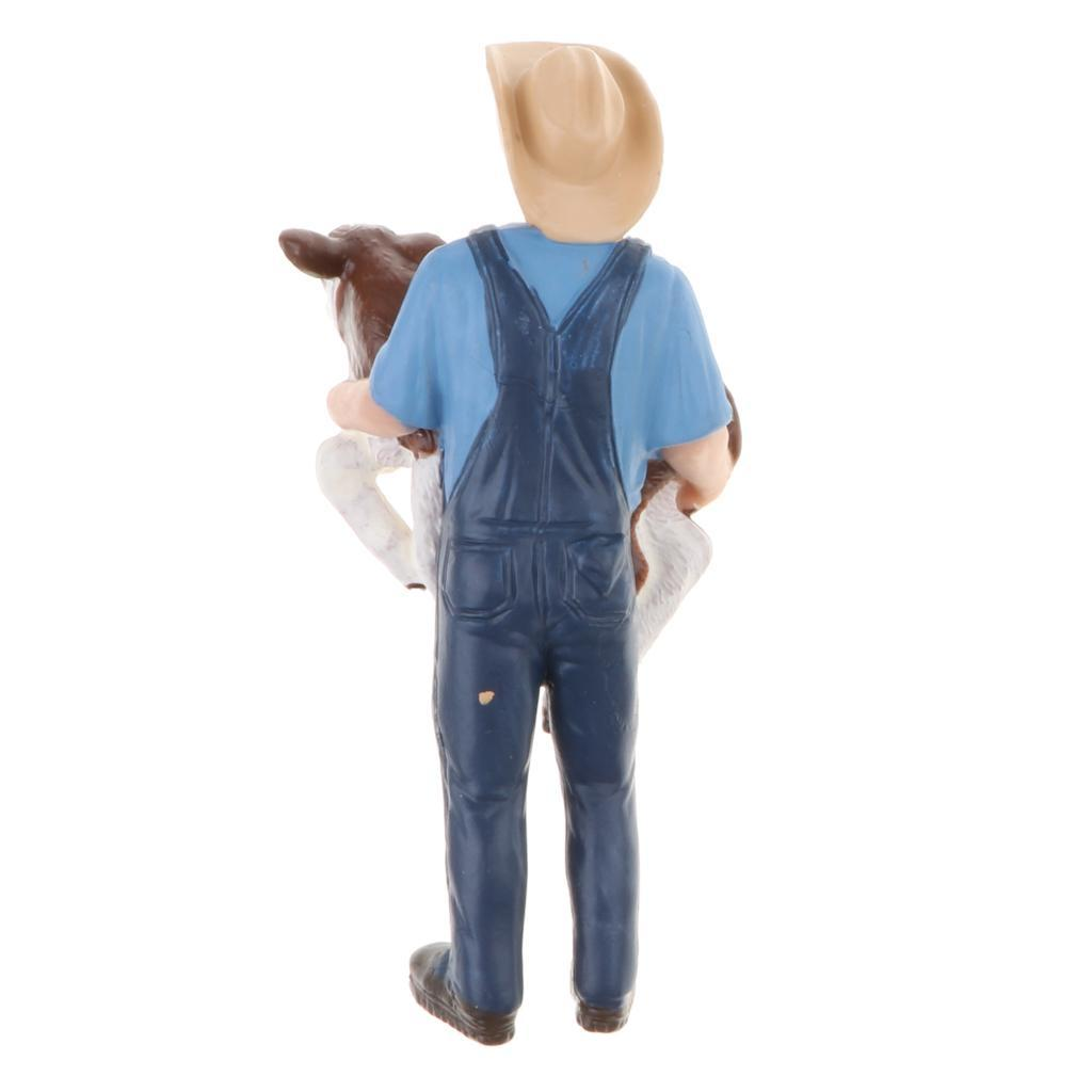 Plastic-Colorful-People-Model-Figure-Ranch-Worker-Figurines-Kid-Gift-Decor thumbnail 18