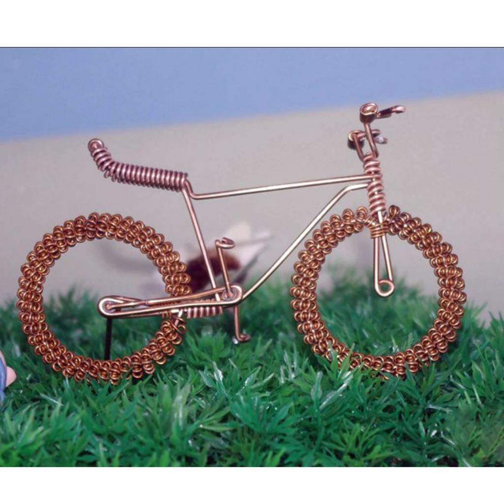 Giocattolo-Annata-Diecast-Bicicletta-Ornamento-Scrivania-Decorazione-Casa miniatura 10