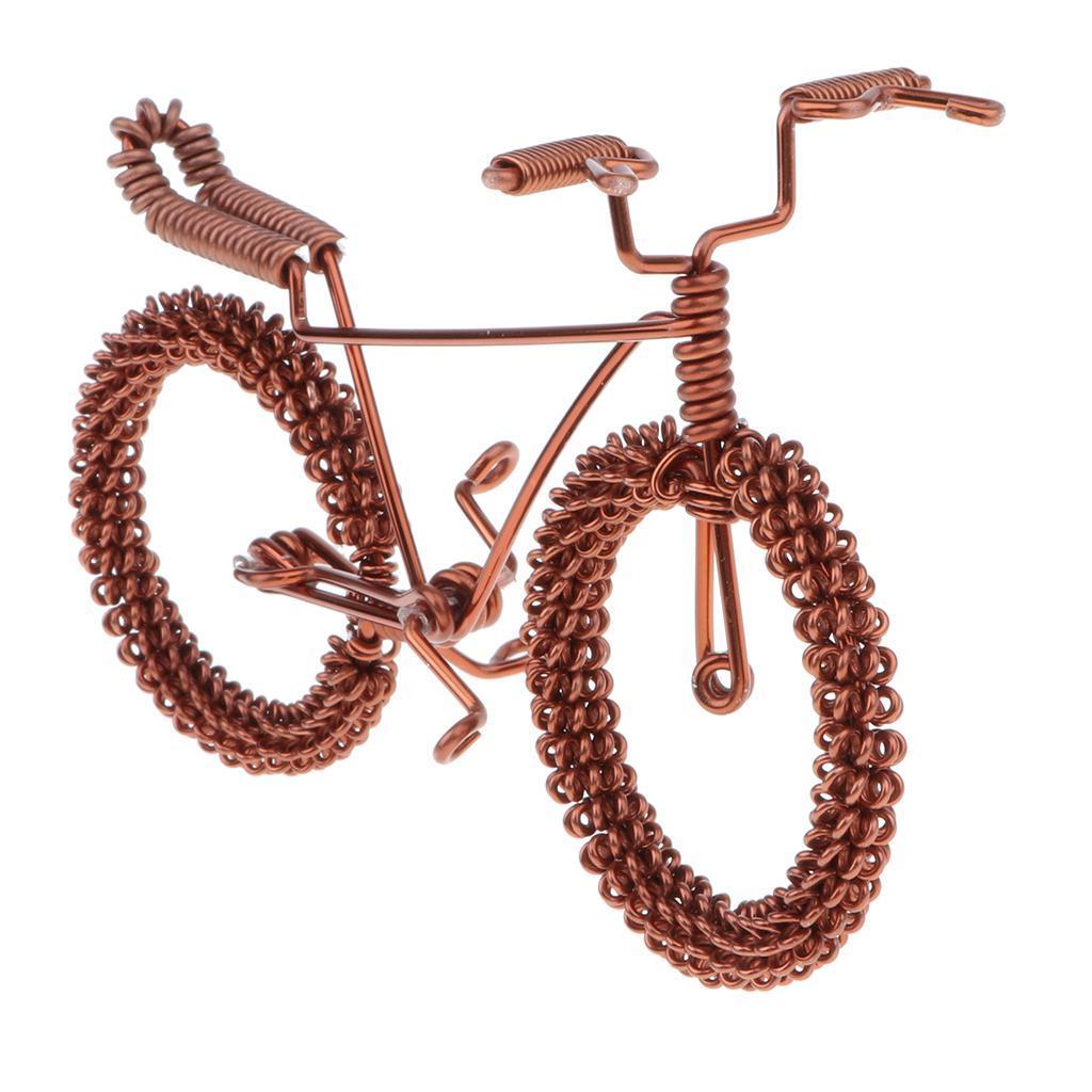 Giocattolo-Annata-Diecast-Bicicletta-Ornamento-Scrivania-Decorazione-Casa miniatura 11