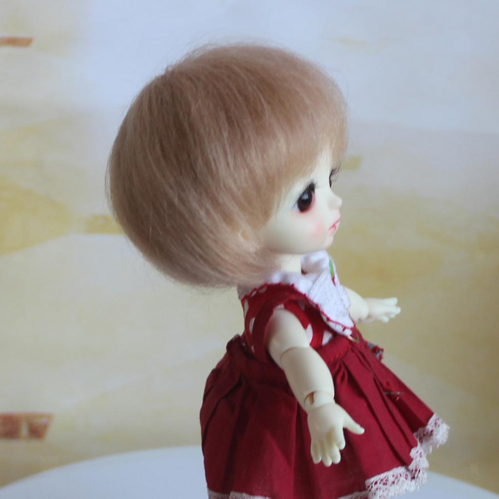 Lovely-Short-Straight-Wig-Bob-Haircut-Mohair-Clothes-Decor-for-1-8-BJD-Doll thumbnail 6