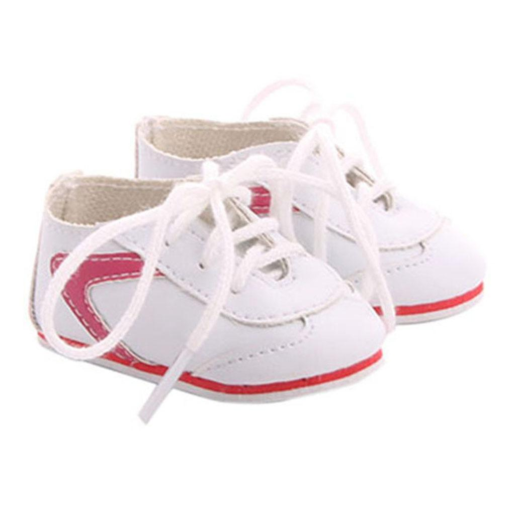 Handmade Princess Lace-up Shoes for 18inch Girl Doll or 43cm Baby Doll Accs