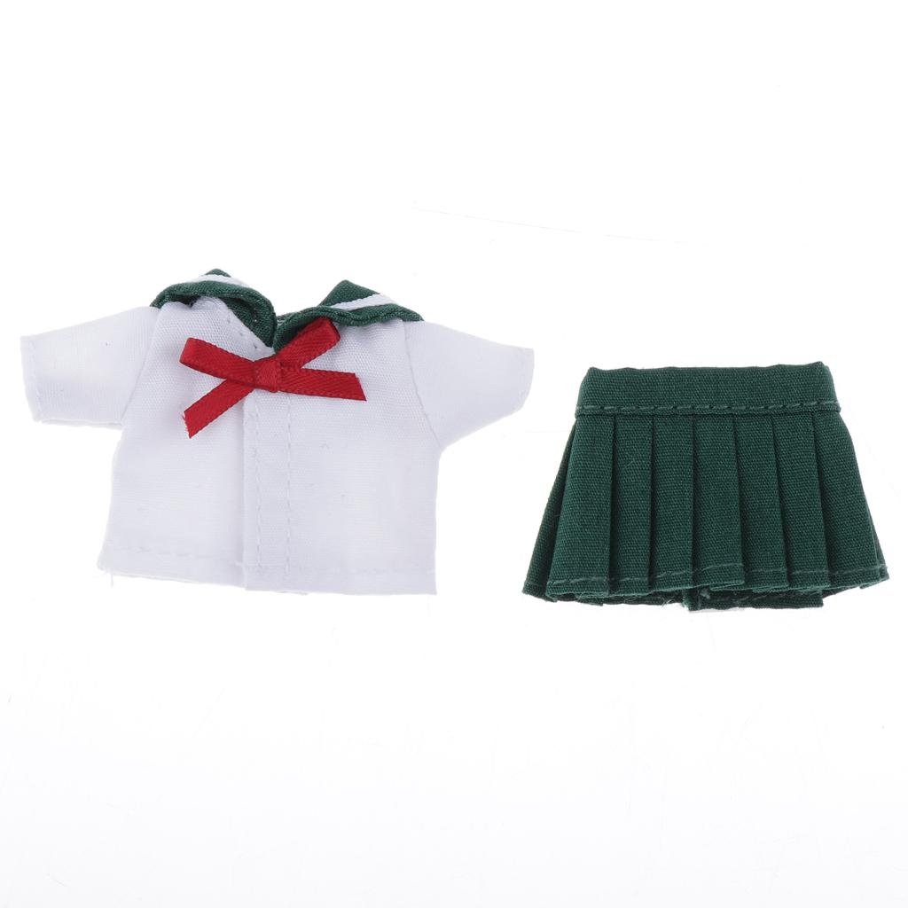 Doll Clothes Outfit School Uniform for Obitsu11 Doll Party Costume Decor