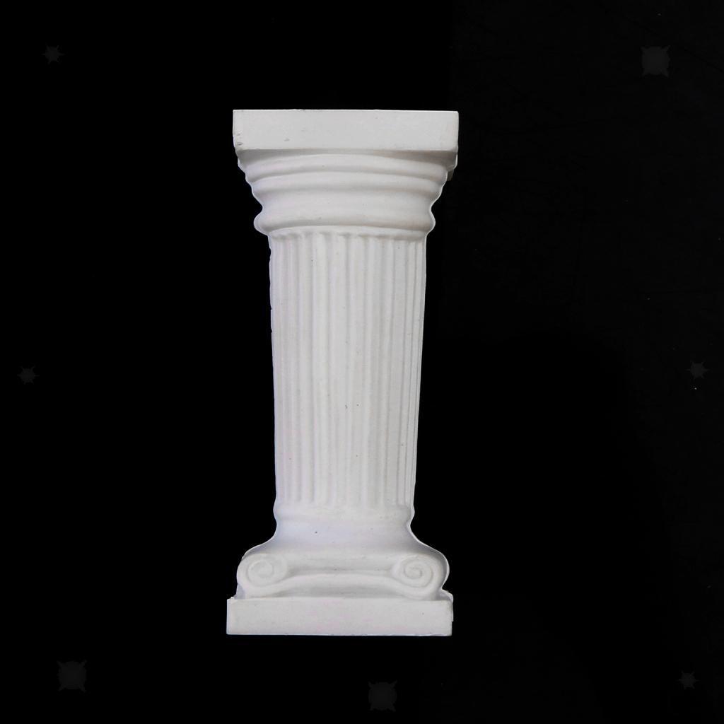 12pcs-Mini-Colonne-Romane-Miniature-Sculpture-Statue-en-Platre-Accessoire miniature 4