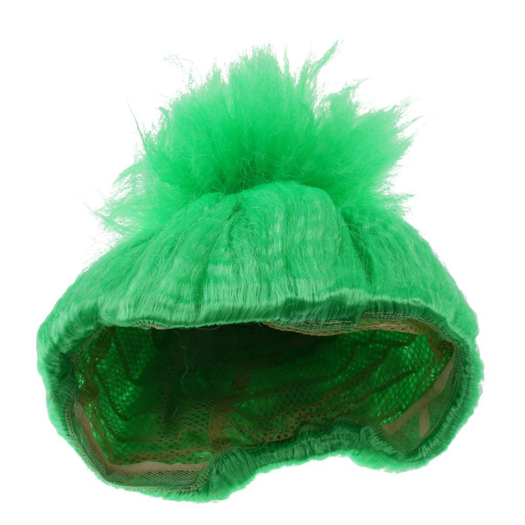 Cute-Flame-Troll-Short-Wig-Cosplay-Party-Costume-Fancy-Dress-Magic-Pixie-Elf-Wig thumbnail 12