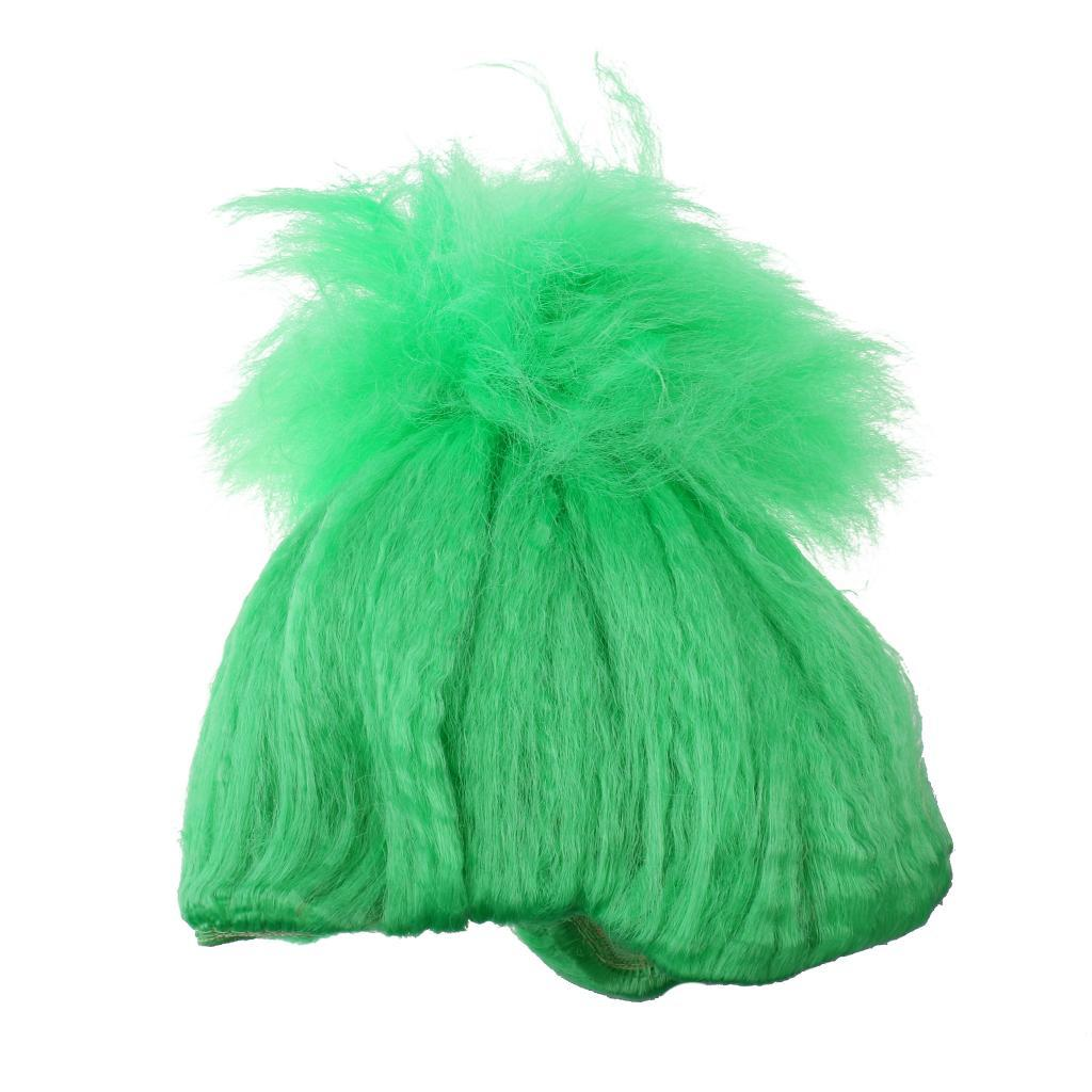 Cute-Flame-Troll-Short-Wig-Cosplay-Party-Costume-Fancy-Dress-Magic-Pixie-Elf-Wig thumbnail 9