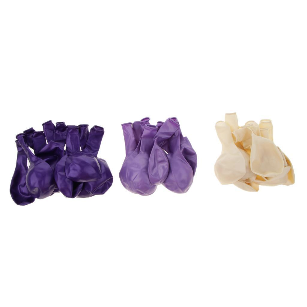 30-Pieces-Ballon-de-Latex-Decoration-pour-Fete-d-039-Anniversaire-Mariage miniature 12