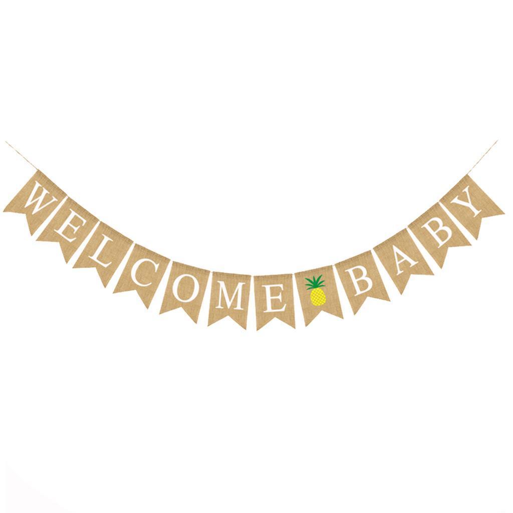 Indexbild 3 - Vintage Jute Hessian Bunt Banner Wimpelgirlande Wimpelkette für Familienparty