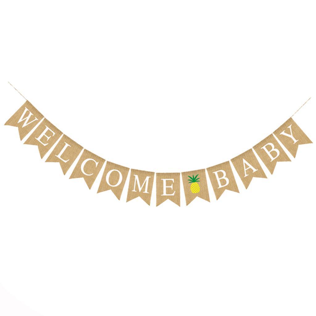 Indexbild 4 - Vintage Jute Hessian Bunt Banner Wimpelgirlande Wimpelkette für Familienparty