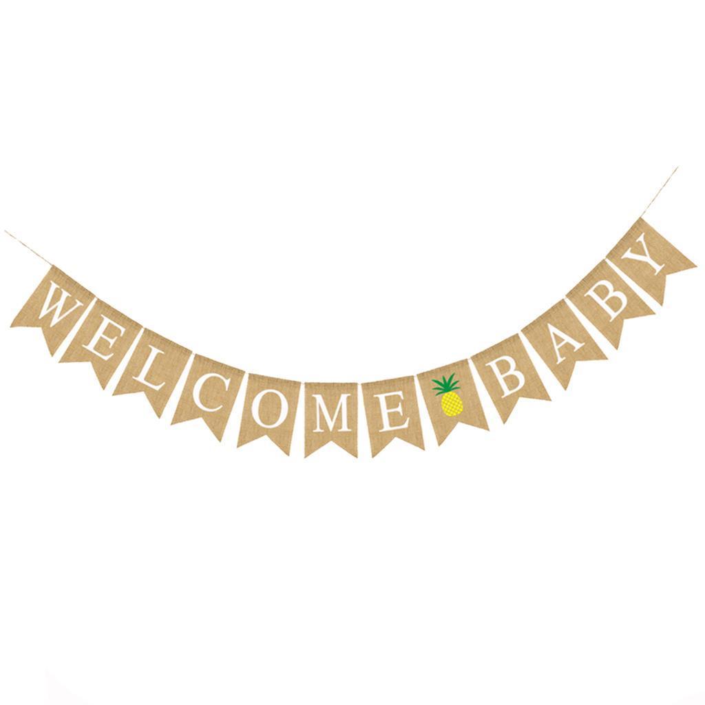 Indexbild 5 - Vintage Jute Hessian Bunt Banner Wimpelgirlande Wimpelkette für Familienparty