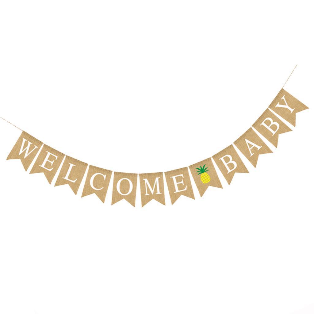 Indexbild 6 - Vintage Jute Hessian Bunt Banner Wimpelgirlande Wimpelkette für Familienparty
