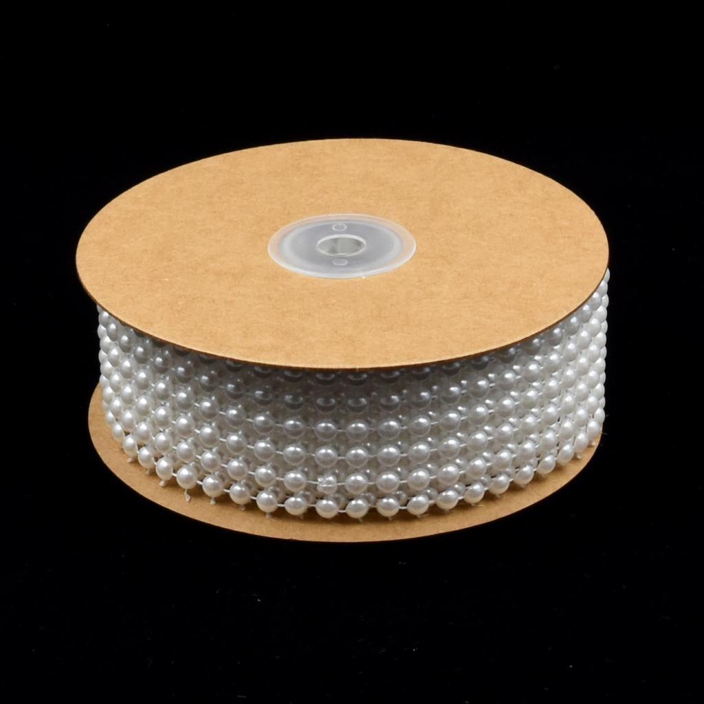 5 Yards Beads Pearl String Ribbon Garland for Craft Wedding Decoration Scrapbook
