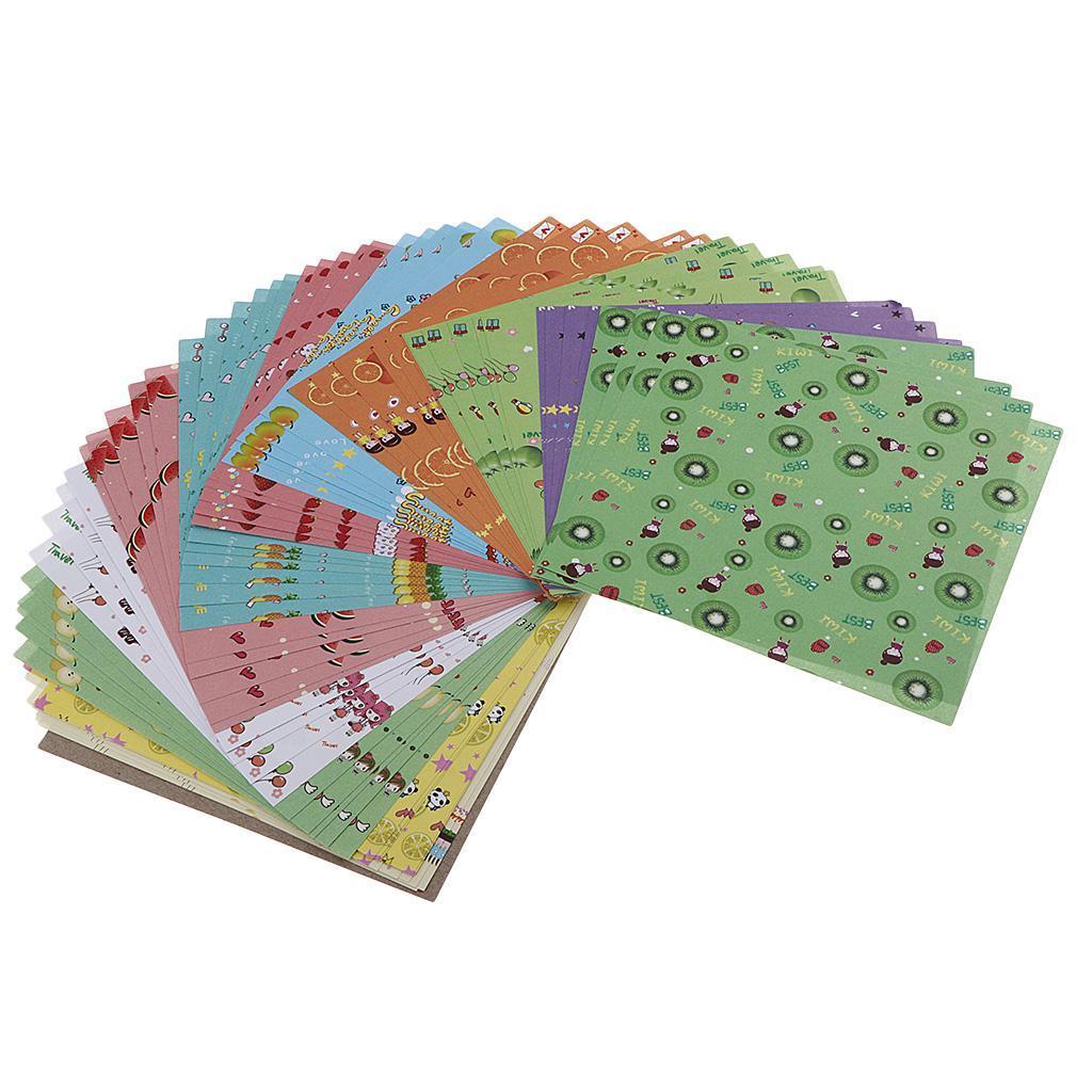 15-Pezzi-Carte-da-Origami-Quadrate-Pennelli-A-Punta-Tonda-Nair-Art-DIY miniatura 13