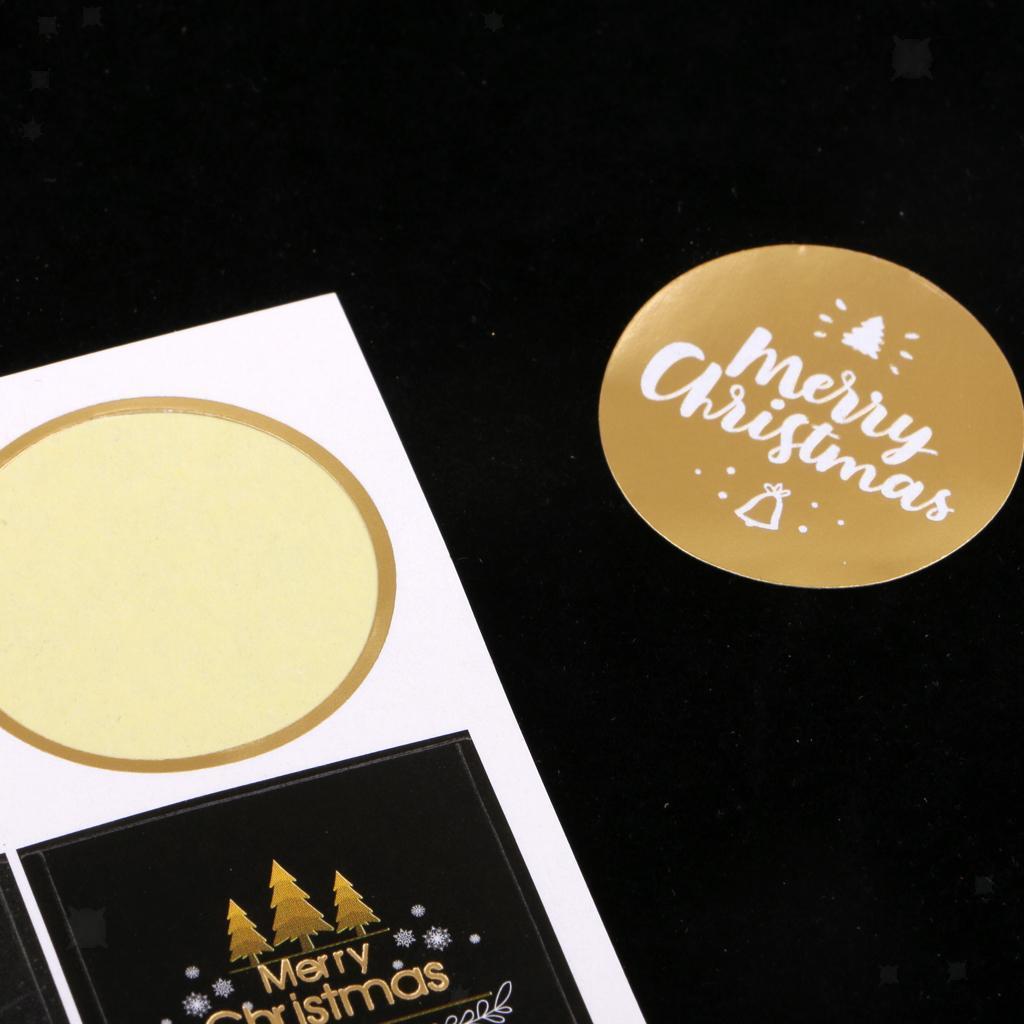 12pcs-adesivo-autoadesivo-che-timbra-oro-Patches-Applique-Natale miniatura 19