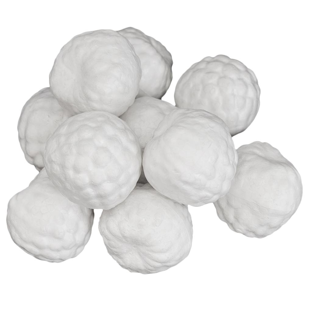 10 Pieces Smooth Foam Polystyrene Craft Balls Hazelnut Fruits for DIY Modeling Arts & Craft, Floral Arrangement, Wedding Party Decoration, Centerpiece