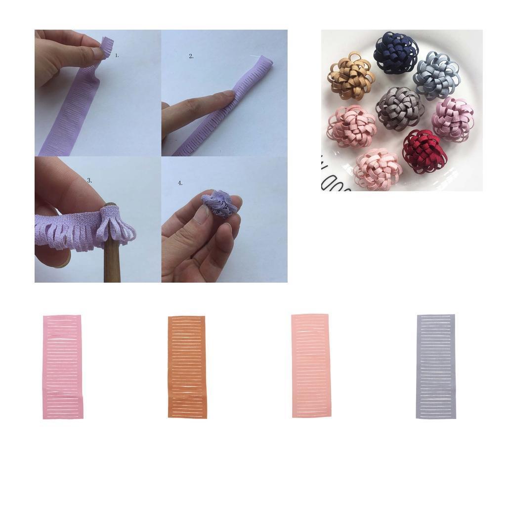 miniatura 6 - 20 pezzi strisce di stoffa banda per fai da te fatti a mano boccioli di