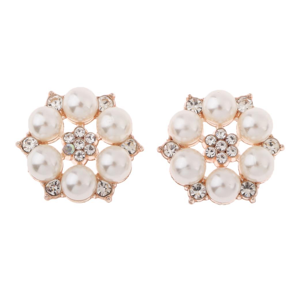 10 Rhinestone Buttons Flatback Embellishment Wedding Craft Decor Silver 1cm