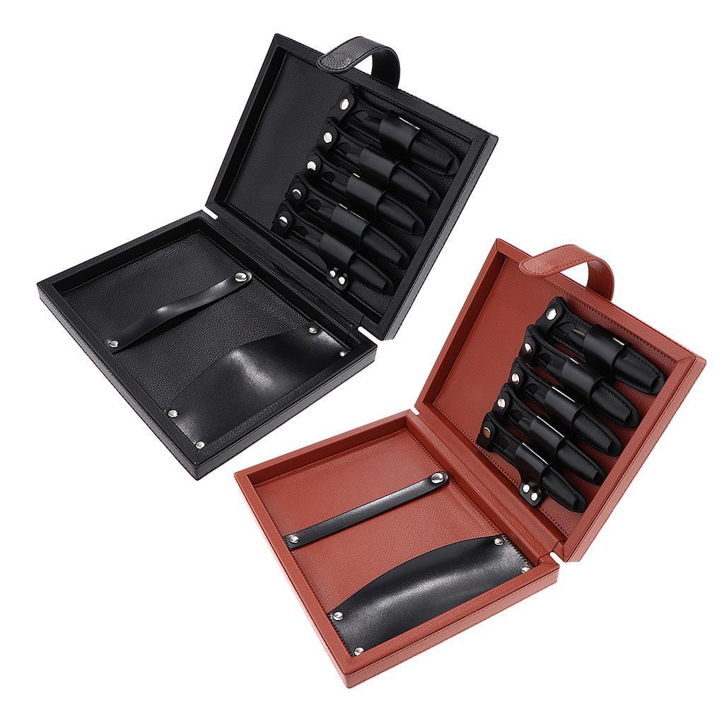 miniatura 5 - Utile caso forbici in pelle per capelli, borsa strumenti taglio di capelli