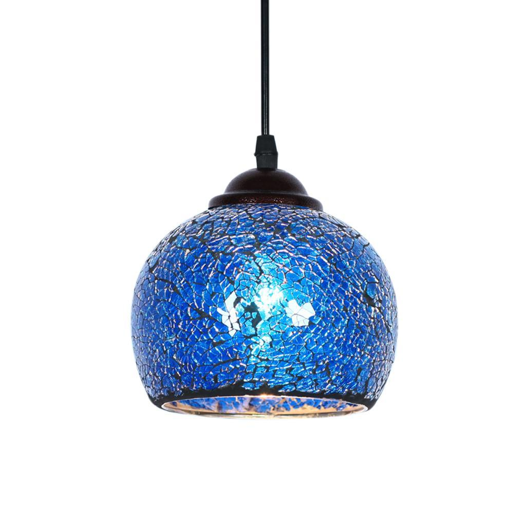 Mosaic-Style-Hanging-Light-Ceiling-Pendant-Lamp-Retro-Lampshade-Cafe-Restaurant thumbnail 48