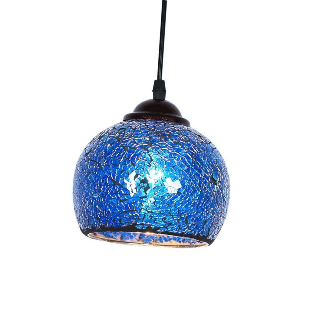 Mosaic-Style-Hanging-Light-Ceiling-Pendant-Lamp-Retro-Lampshade-Cafe-Restaurant thumbnail 51