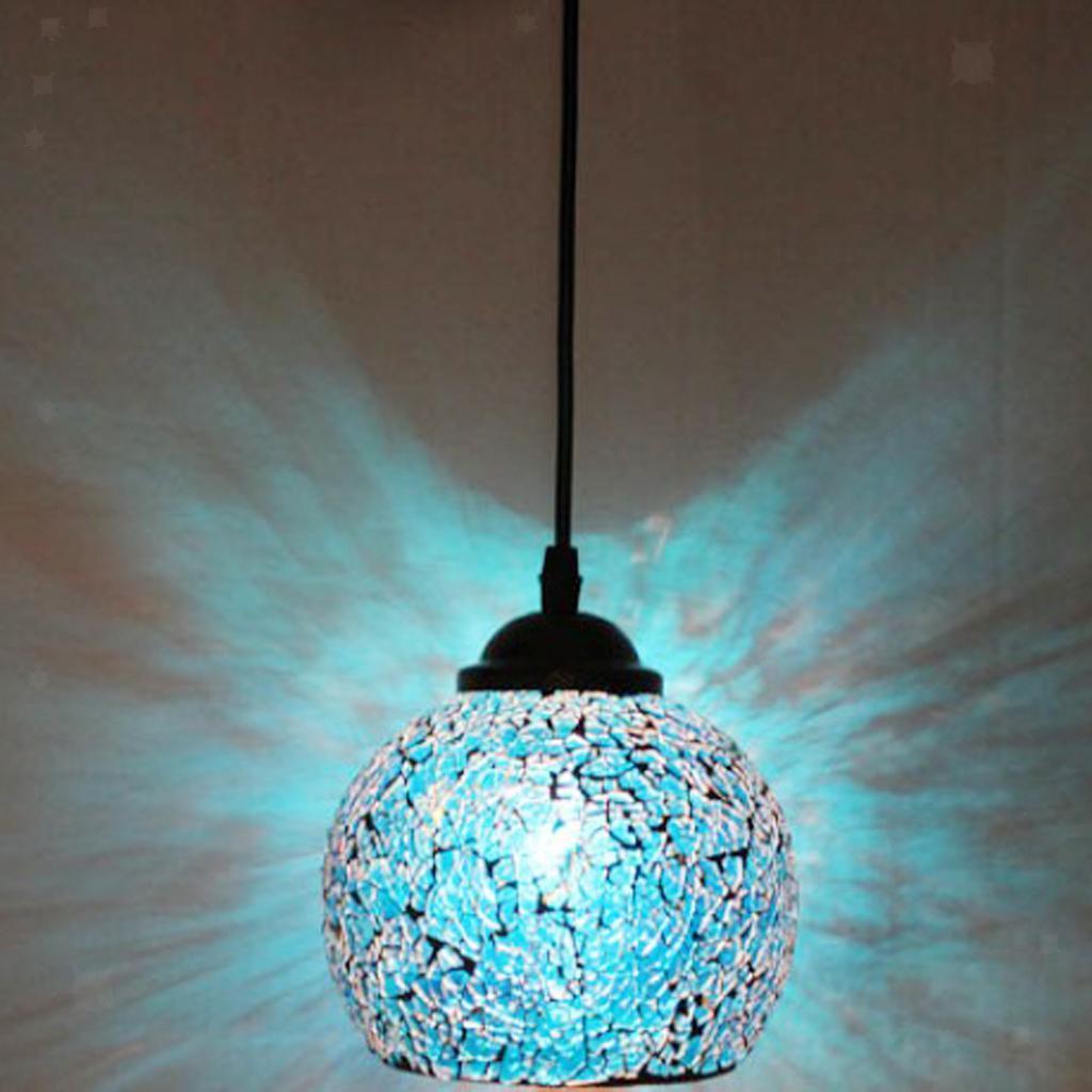 Mosaic-Style-Hanging-Light-Ceiling-Pendant-Lamp-Retro-Lampshade-Cafe-Restaurant thumbnail 49