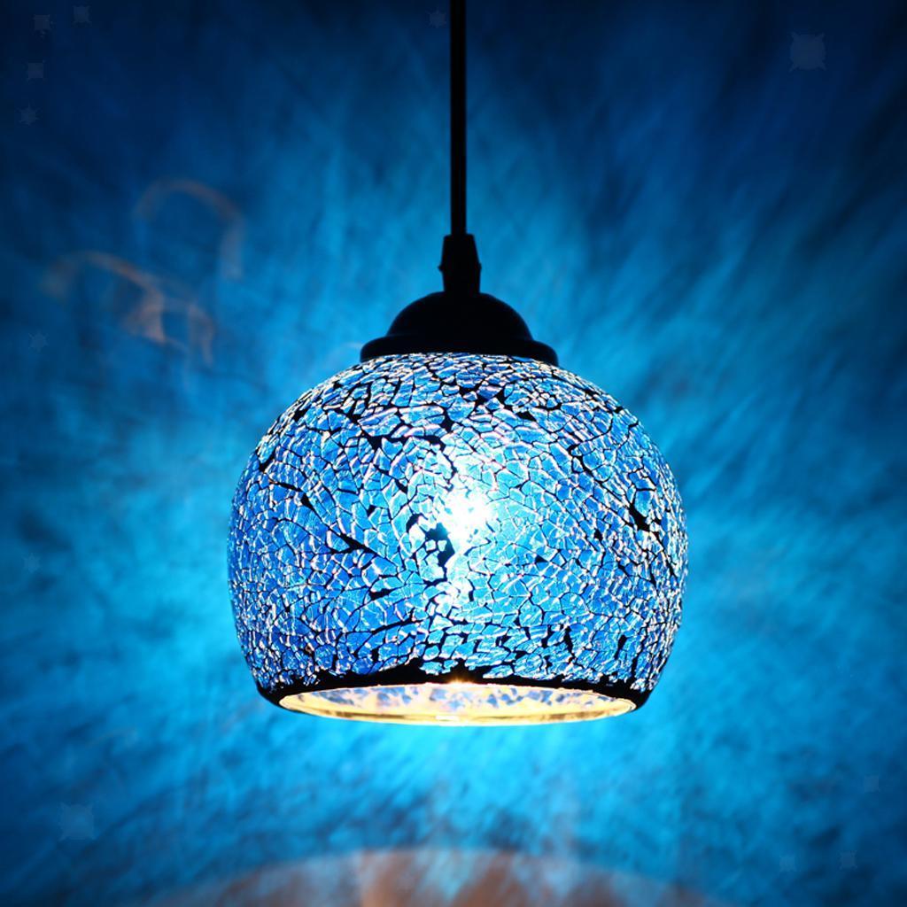 Mosaic-Style-Hanging-Light-Ceiling-Pendant-Lamp-Retro-Lampshade-Cafe-Restaurant thumbnail 47
