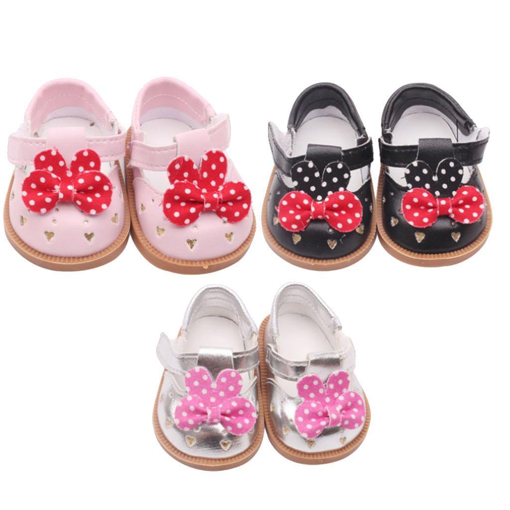 Vetement-de-Poupee-Chaussures-Animes-en-Cuir-PU-Decoration-pour-Poupees miniature 3