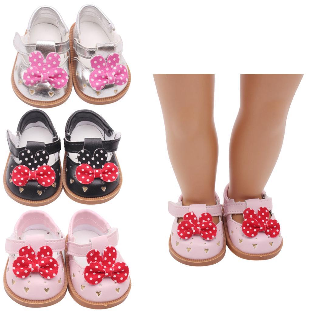 Vetement-de-Poupee-Chaussures-Animes-en-Cuir-PU-Decoration-pour-Poupees miniature 5