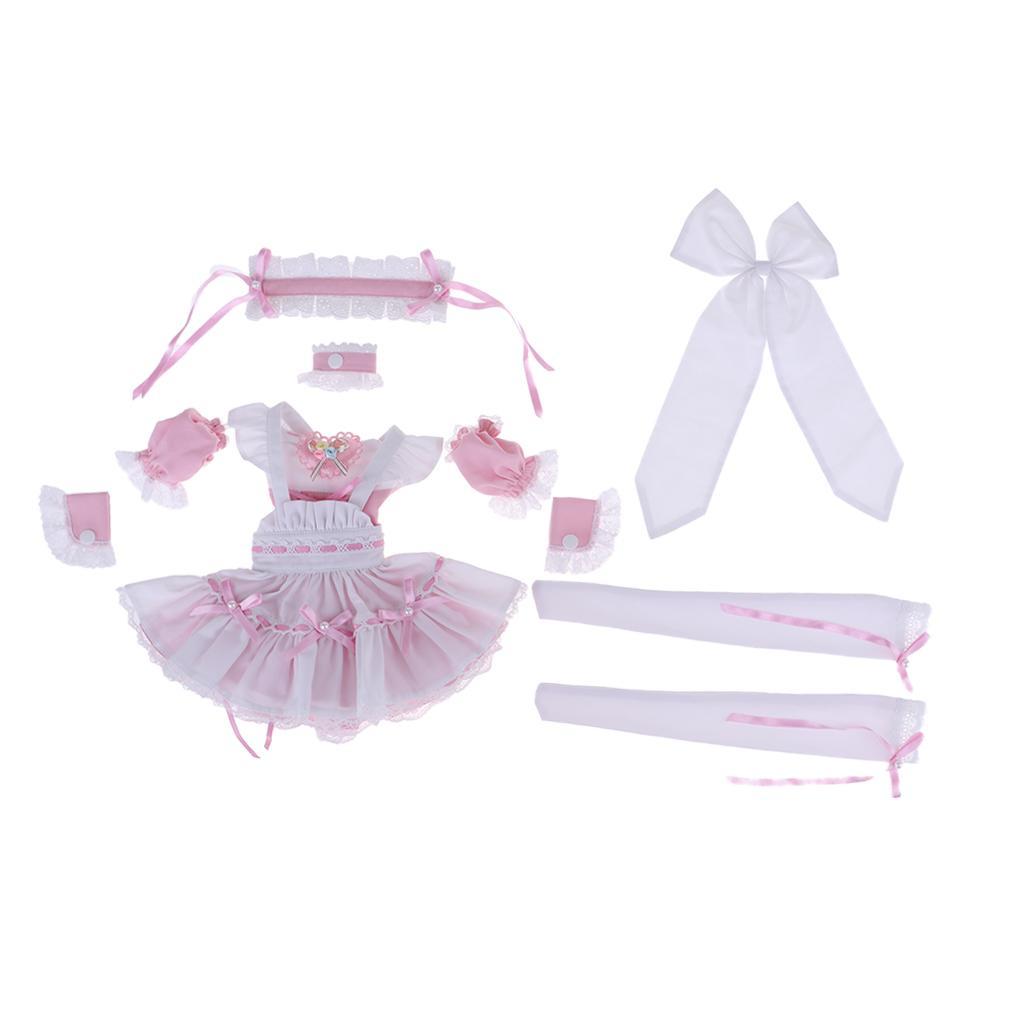 Bella bambola cameriera vestito costume cameriera Set per 1 3  BJD bambola  sport dello shopping online