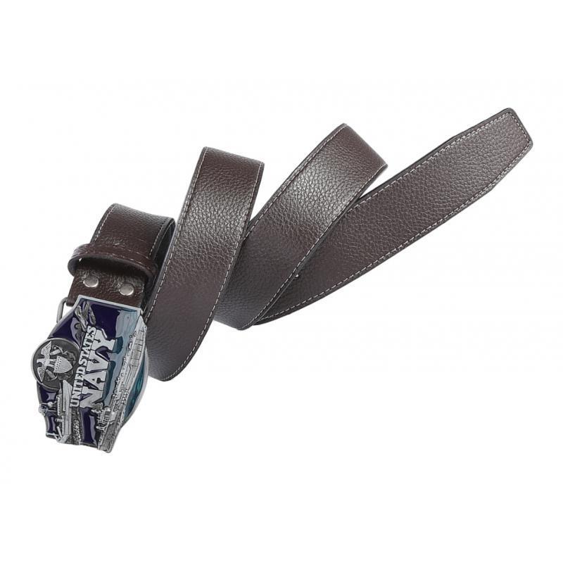 Men-039-s-Leather-Belt-Metal-Buckle-Navy-Pattern-Western-Cowboy-Style-Belt-Strap thumbnail 10