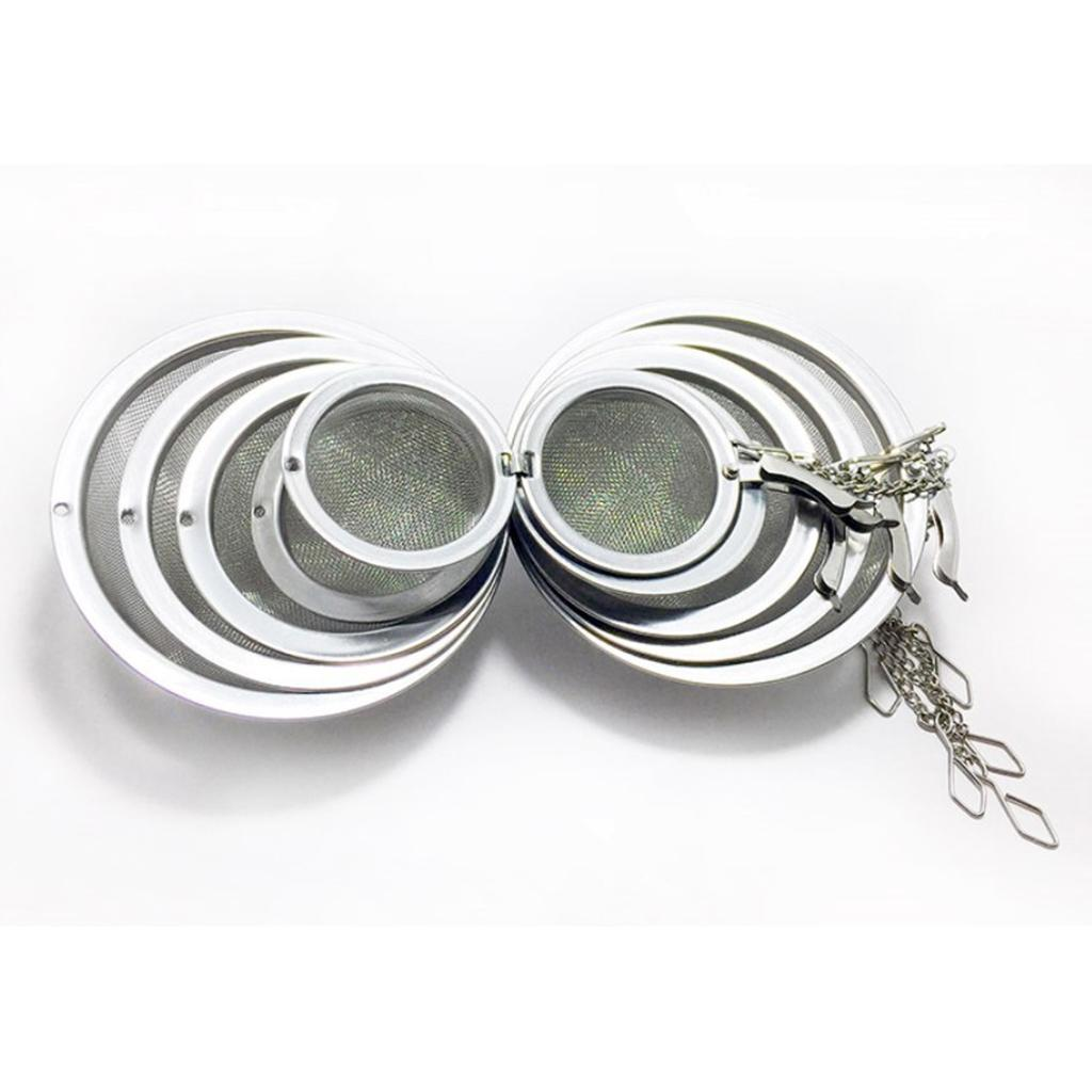 Stainless-Steel-Infuser-Strainer-Mesh-Tea-Filters-Spoon-Locking-Spice-Ball thumbnail 6