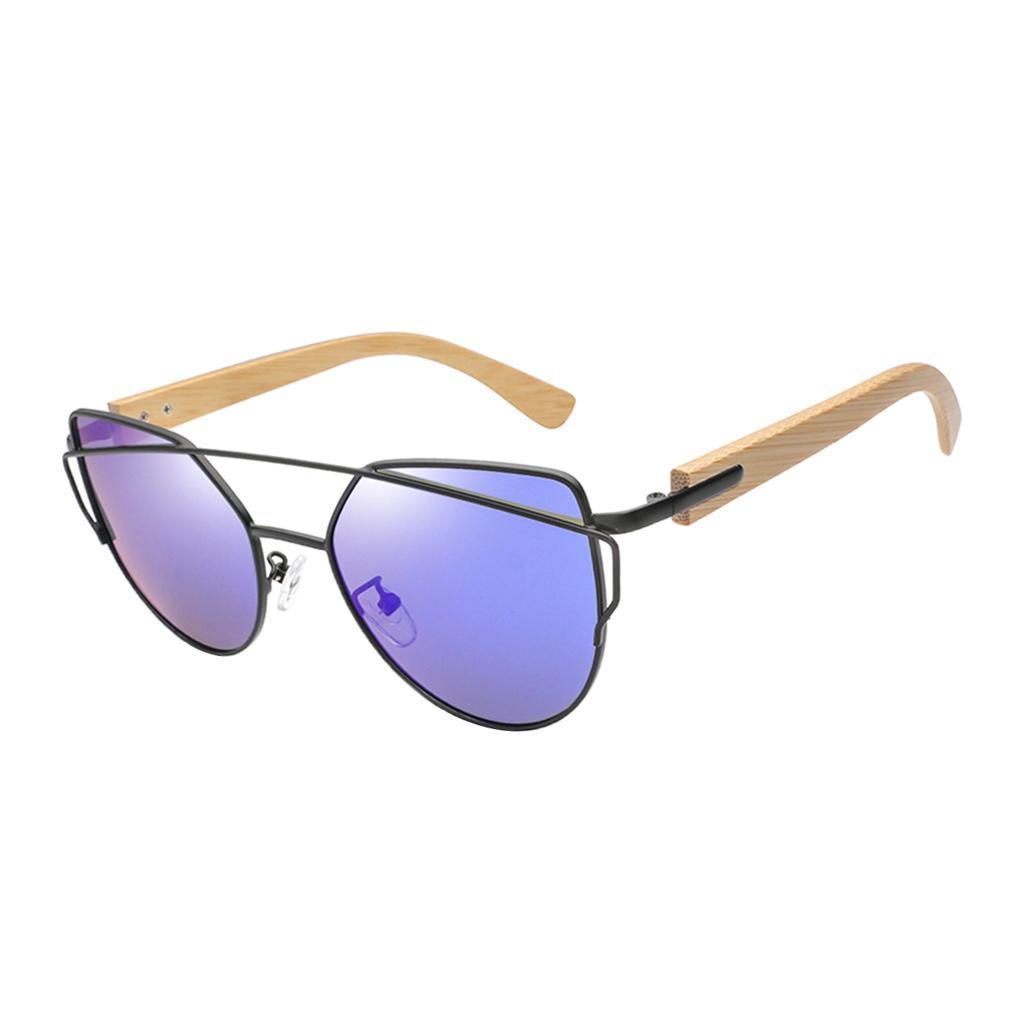 uomo-donna-moda-in-legno-uv-400-lenti-piatte-occhiali-da-sole-con-gambe-di miniatura 8